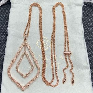 New Kendra Scott Rose Gold Simon Long Necklace